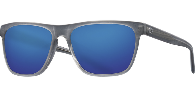 Del Mar Collection - Apalach Polarized Sunglasses - Matte Gray Crystal - Polarized 580 Blue Mirror Lenses