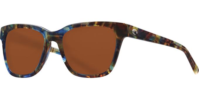 Del Mar Collection - Coquina Polarized Sunglasses - Shiny Ocean Tort - Polarized 580 Copper Lenses