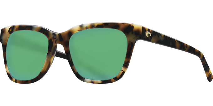 Del Mar Collection - Coquina Polarized Sunglasses - Shiny Vintage Tortoise - Polarized 580 Green Mirror Lenses