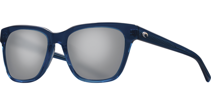 Del Mar Collection - Coquina Polarized Sunglasses - Shiny Deep Teal Crystal - Polarized 580 Gray Silver Mirror Lenses