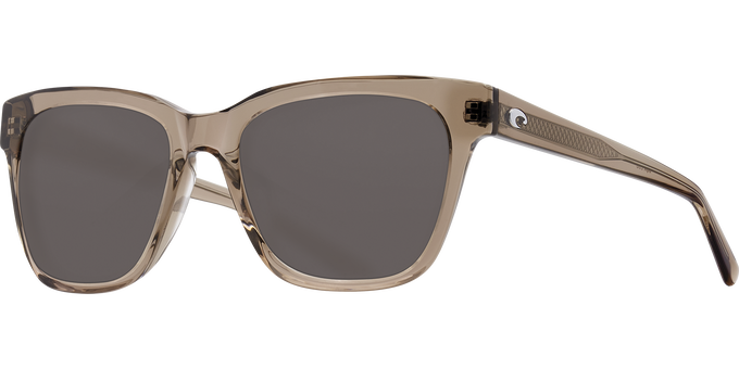 Del Mar Collection - Coquina Polarized Sunglasses - Shiny Taupe Crystal - Polarized 580 Gray Lenses