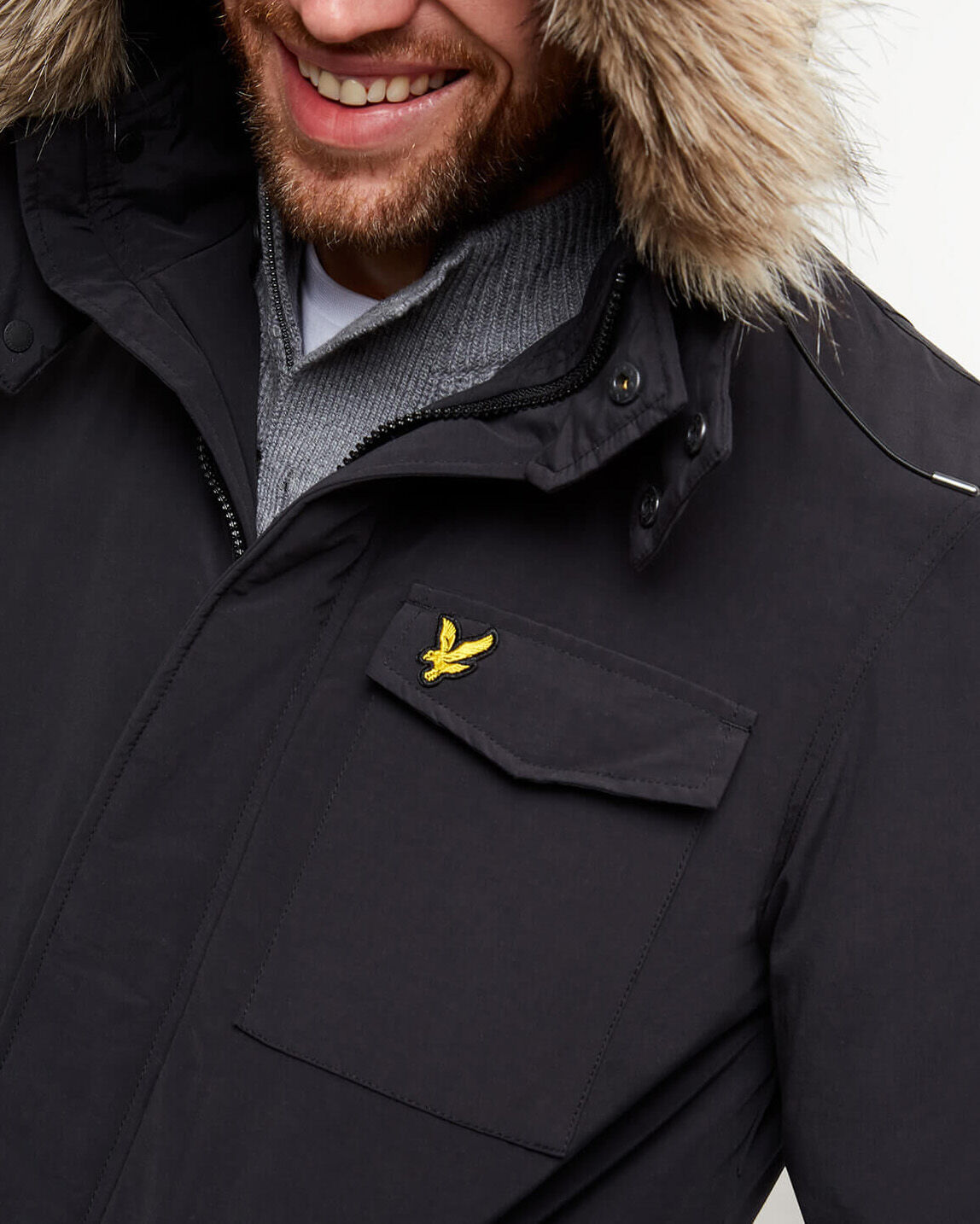 Lyle-and-Scott-Mens-Winterweight-Microfleece-Lined-Parka thumbnail 20