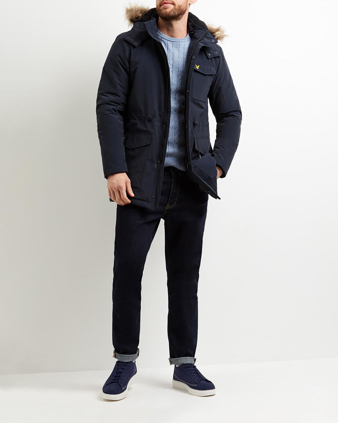 Lyle-and-Scott-Mens-Winterweight-Microfleece-Lined-Parka thumbnail 6