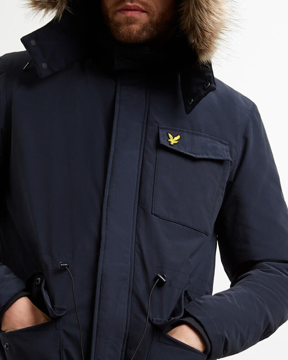 Lyle-and-Scott-Mens-Winterweight-Microfleece-Lined-Parka thumbnail 8