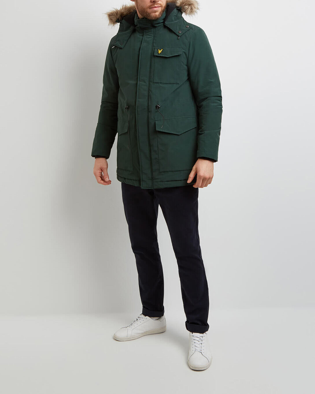 Lyle-and-Scott-Mens-Winterweight-Microfleece-Lined-Parka thumbnail 10