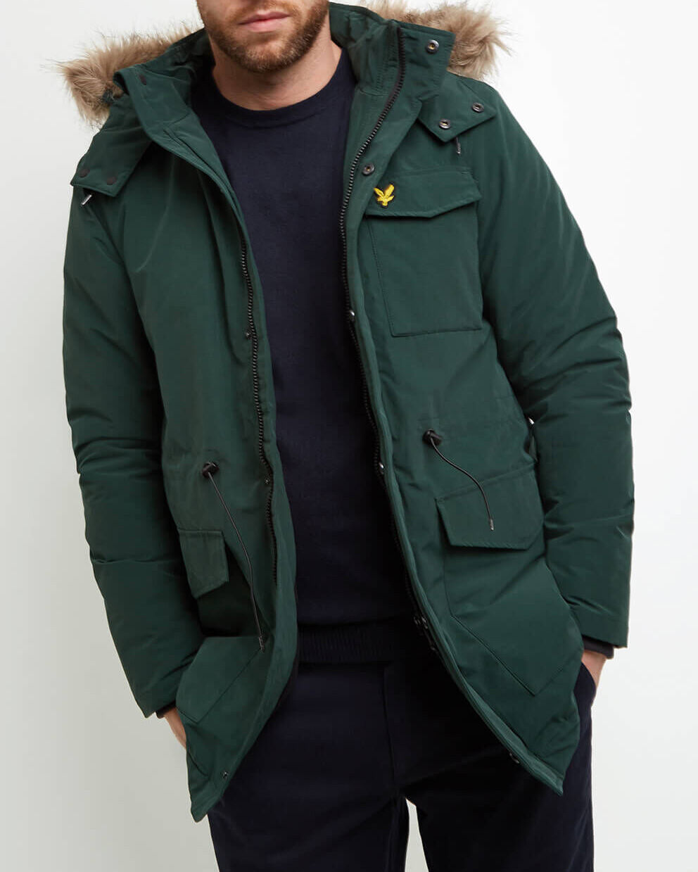 Lyle-and-Scott-Mens-Winterweight-Microfleece-Lined-Parka thumbnail 12