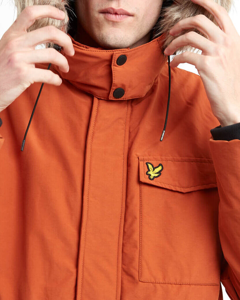 Lyle-and-Scott-Mens-Winterweight-Microfleece-Lined-Parka thumbnail 16