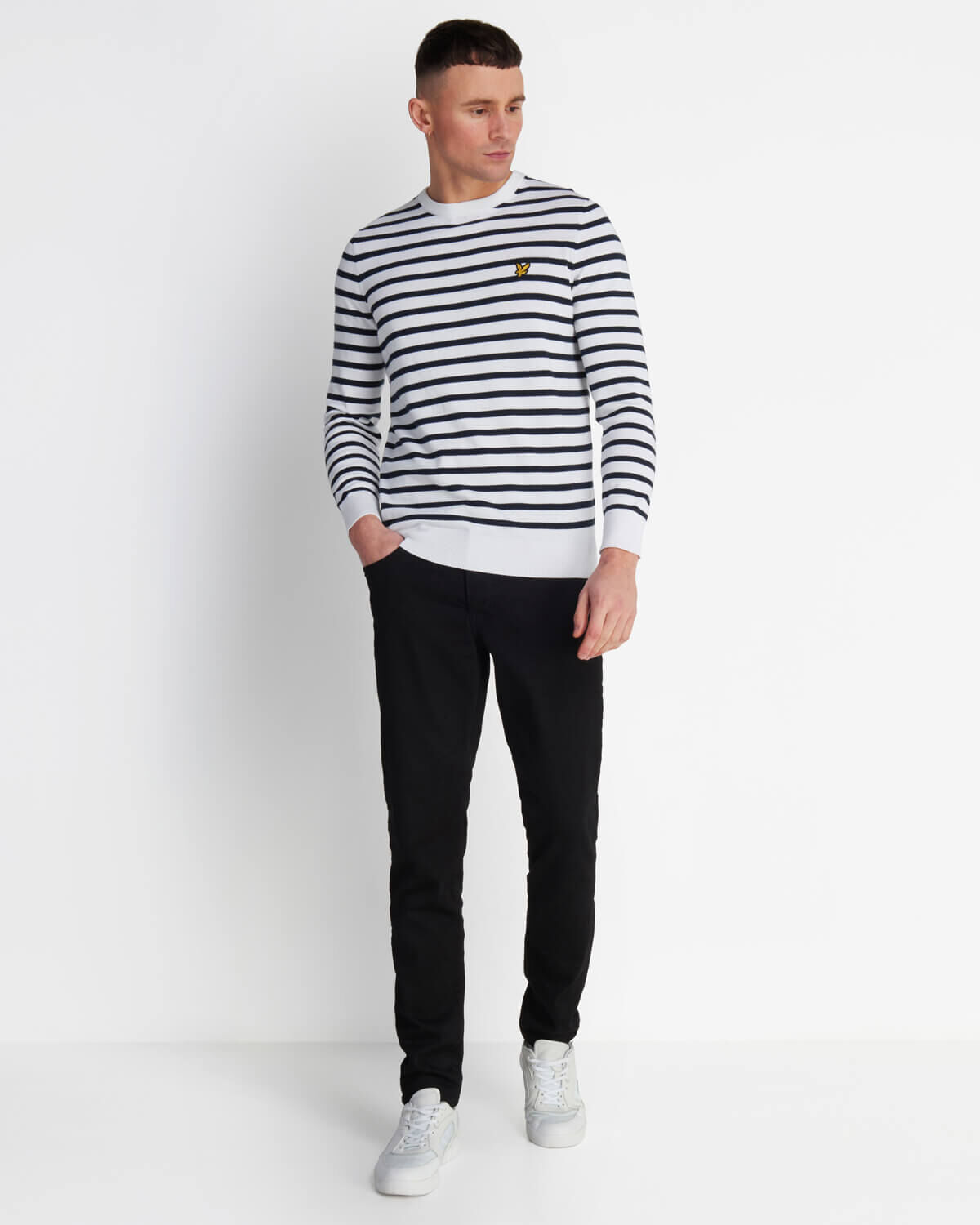 Lyle-and-Scott-Men-Breton-Stripe-Jumper-Cotton thumbnail 17