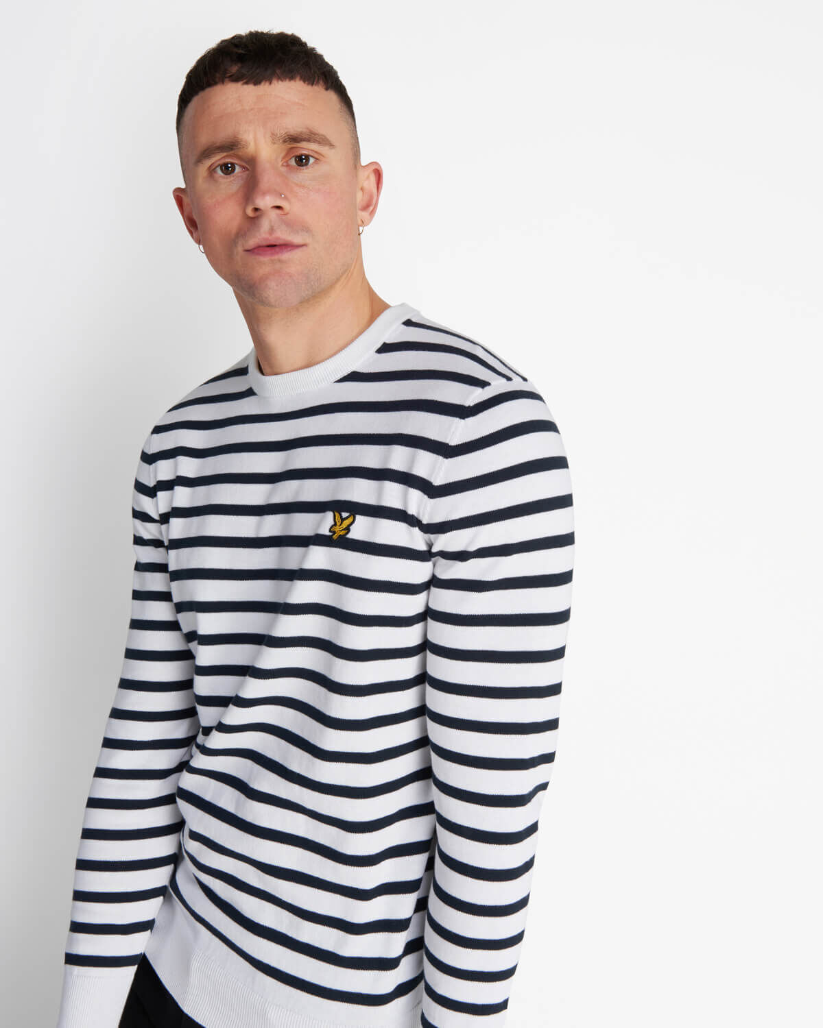 Lyle-and-Scott-Men-Breton-Stripe-Jumper-Cotton thumbnail 19