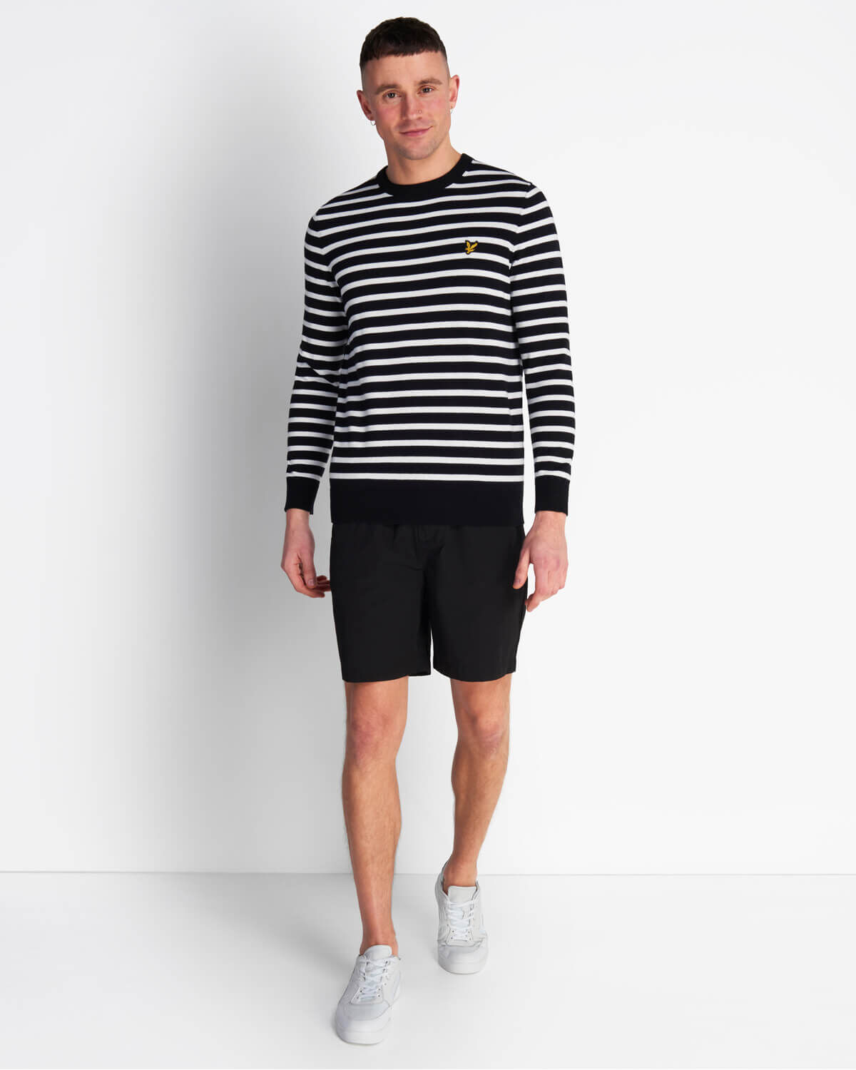 Lyle-and-Scott-Men-Breton-Stripe-Jumper-Cotton thumbnail 7