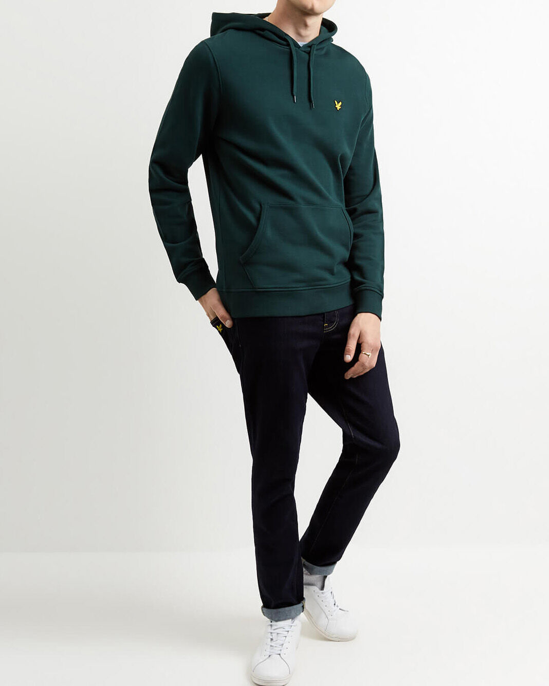 Lyle-and-Scott-Mens-Pullover-Hoodie-Cotton thumbnail 18