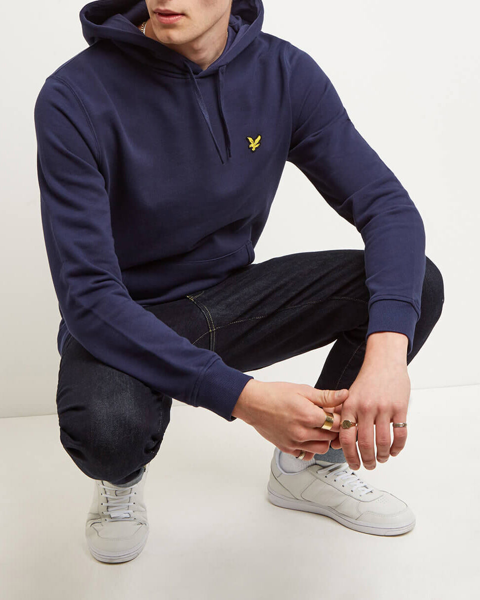 Lyle-and-Scott-Mens-Pullover-Hoodie-Cotton thumbnail 38