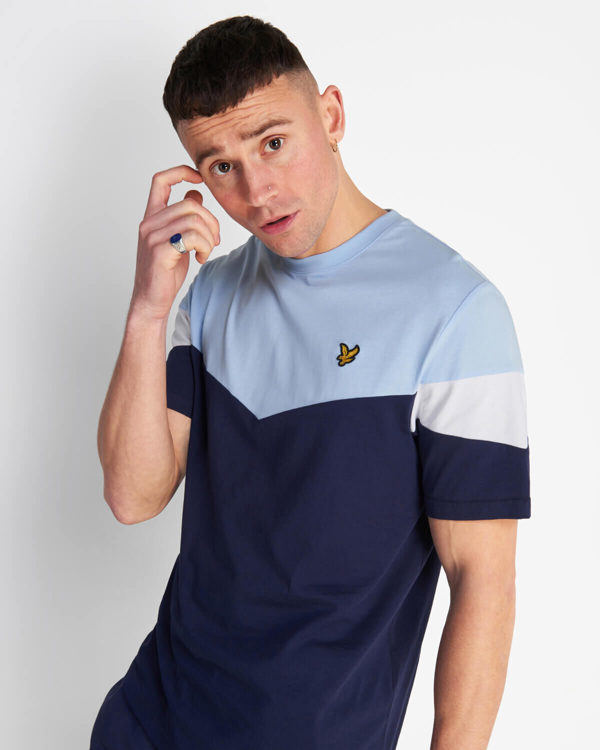 Lyle-and-Scott-Mens-Panel-T-Shirt thumbnail 14