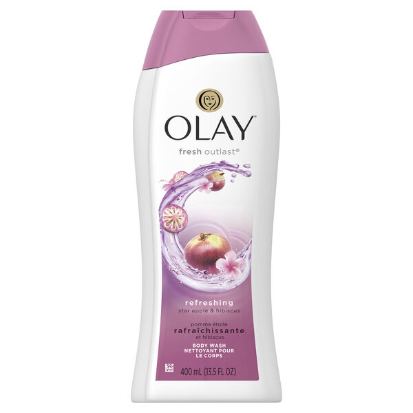 Olay Fresh Outlast Star Apple & Hibiscus Body Wash,13.5 fl oz