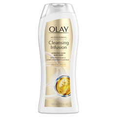 Olay Microscrubbing Cleansing Infusion Crushed Ginger Body Wash, 13.5 oz