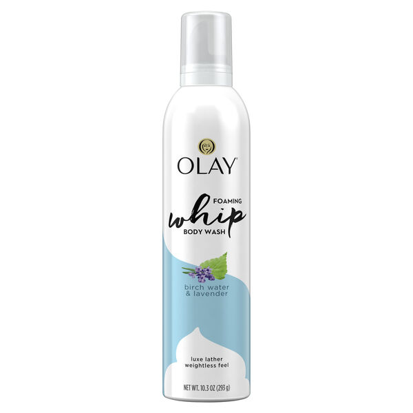 Olay Purifying Birch Water & Lavendar Scent Foaming Whip Body Wash for Women, 10.3 oz