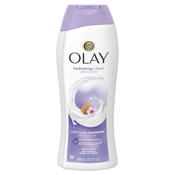 Olay Hydrating Clean Almond Milk Body Wash, 13.5 fl oz