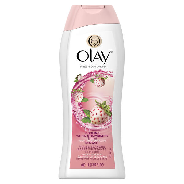 Olay Fresh Outlast Cooling White Strawberry & Mint Body Wash 13.5 oz