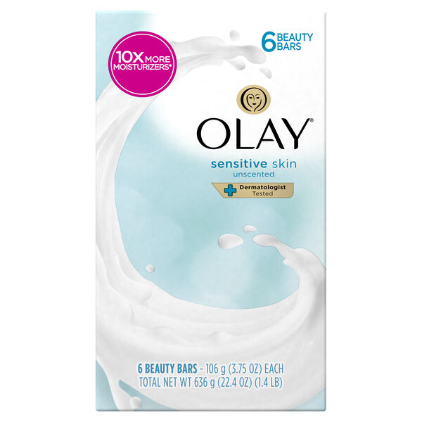 Olay Moisture Outlast Sensitive Beauty Bar 3.75 oz, 6 count