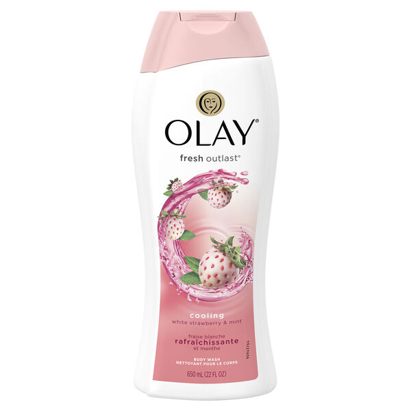 Olay Fresh Outlast Cooling White Strawberry & Mint Body Wash 22 oz