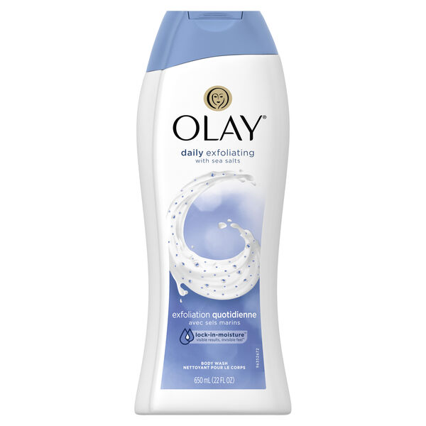 Olay Daily Exfoliating with Sea Salts Body Wash, 22 oz