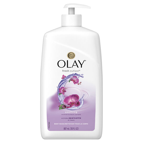 Olay Fresh Outlast Soothing Orchid & Black Currant Body Wash 30 oz