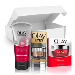 Olay Anti-Aging Skincare Kit: Regenerist Cleanser, Moisturizer & Eye Cream