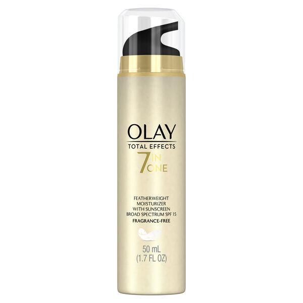 Olay Total Effects Fragrance-Free Featherweight Face Moisturizer with SPF 15, 1.7 fl oz