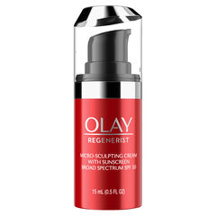 Olay Regenerist Micro-Sculpting Cream Face Moisturizer with SPF 30, Trial Size 0.5 oz