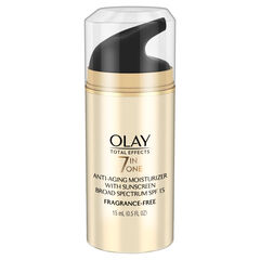 Olay Total Effects Anti-Aging Face Moisturizer with SPF 15 Fragrance-Free, Trial Size 0.5 fl oz