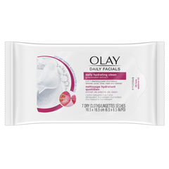 Olay Daily Facial Hydrating Cleansing Cloths w/ Grapeseed Extract, Makeup Remover 7 Count
