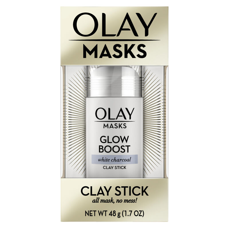 Olay Glow Boost White Charcoal Clay Face Mask Stick, 1.7 oz