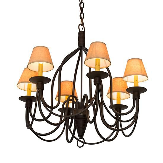 2nd Avenue Design Bell 30 Inch 6 Light Chandelier Bell - S 21937-1 - Traditional