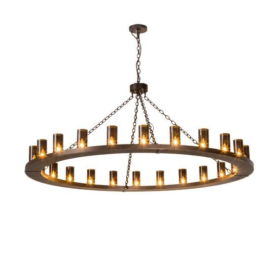 2nd Avenue Design Loxley 72 Inch 24 Light Chandelier Loxley 215686 6 Rustic