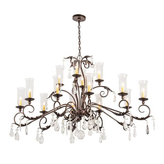 Designer Lights Room & Exterior 2nd Avenue Design Windsor 62 Inch 14 Light Mini Chandelier Windsor - 87636.60.X.3MAHBRZ Mini Chandelier