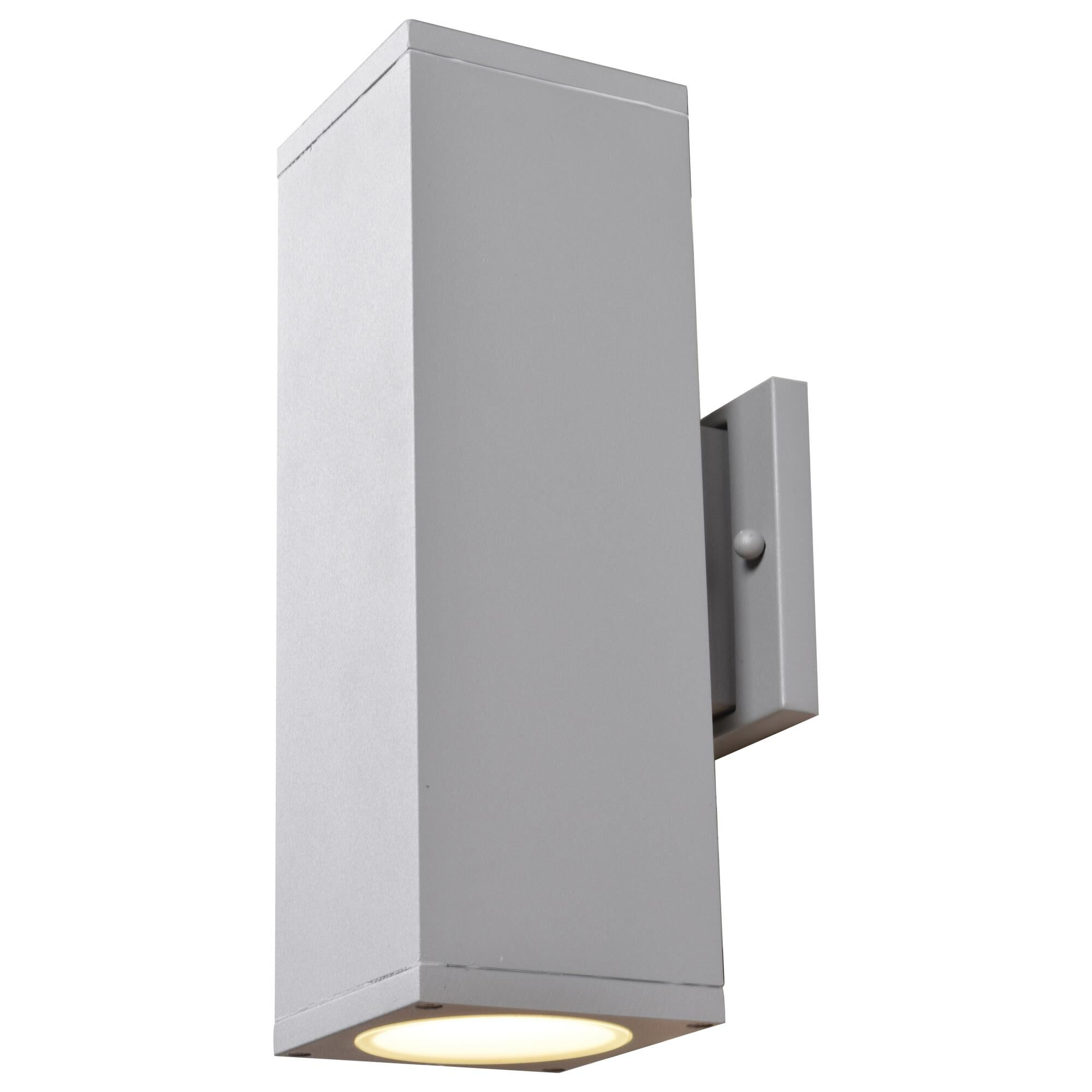 Access Lighting Bayside 12 Inch Tall 2 Light LED Outdoor Wall Light Bayside 20033LEDMG BRZFST Modern Contemporary