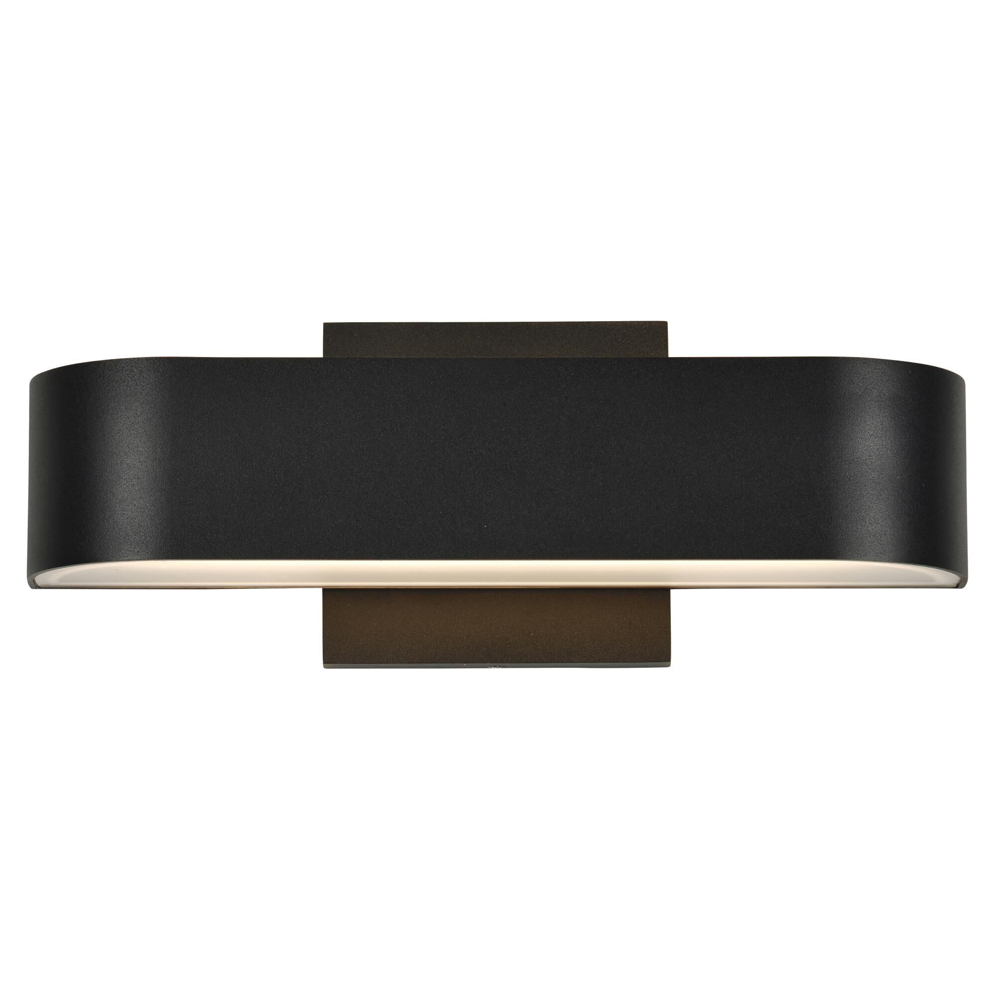Access Lighting Montreal 2 Inch Tall 2 Light LED Outdoor Wall Light Montreal 20046LEDDMG BLFST Modern Contemporary