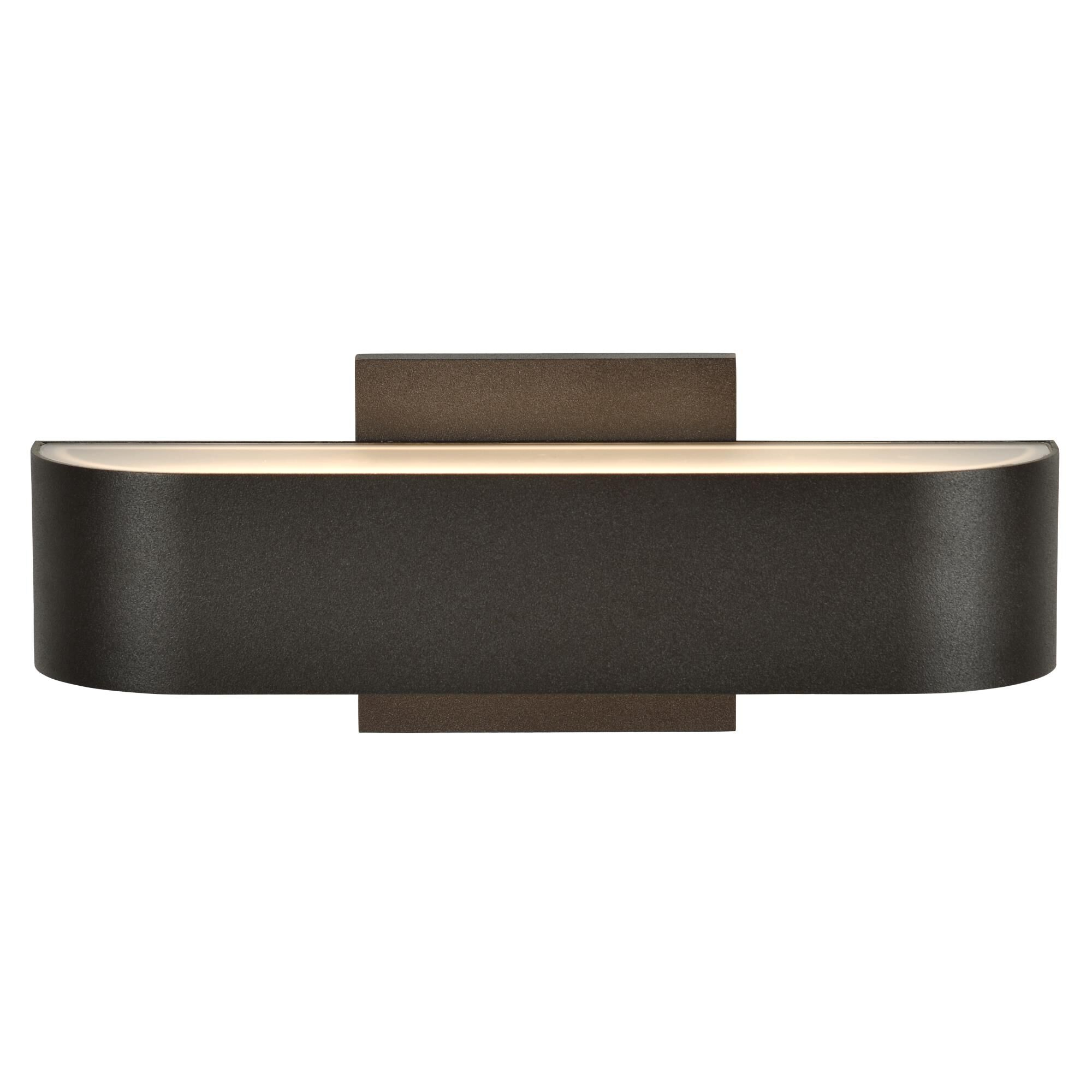 Access Lighting Montreal 2 Inch Tall 2 Light LED Outdoor Wall Light Montreal 20046LEDDMG BRZFST Modern Contemporary