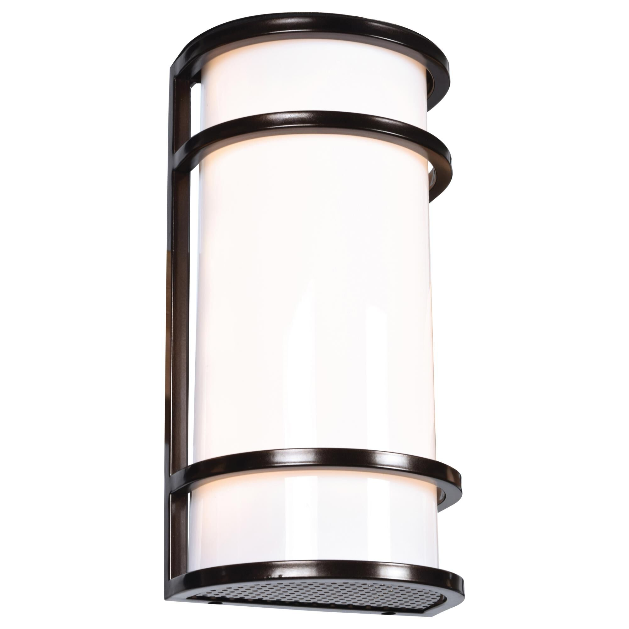 Access Lighting Cove 12 Inch Tall 1 Light LED Outdoor Wall Light Cove 20105LEDMG BRZACR Modern Contemporary