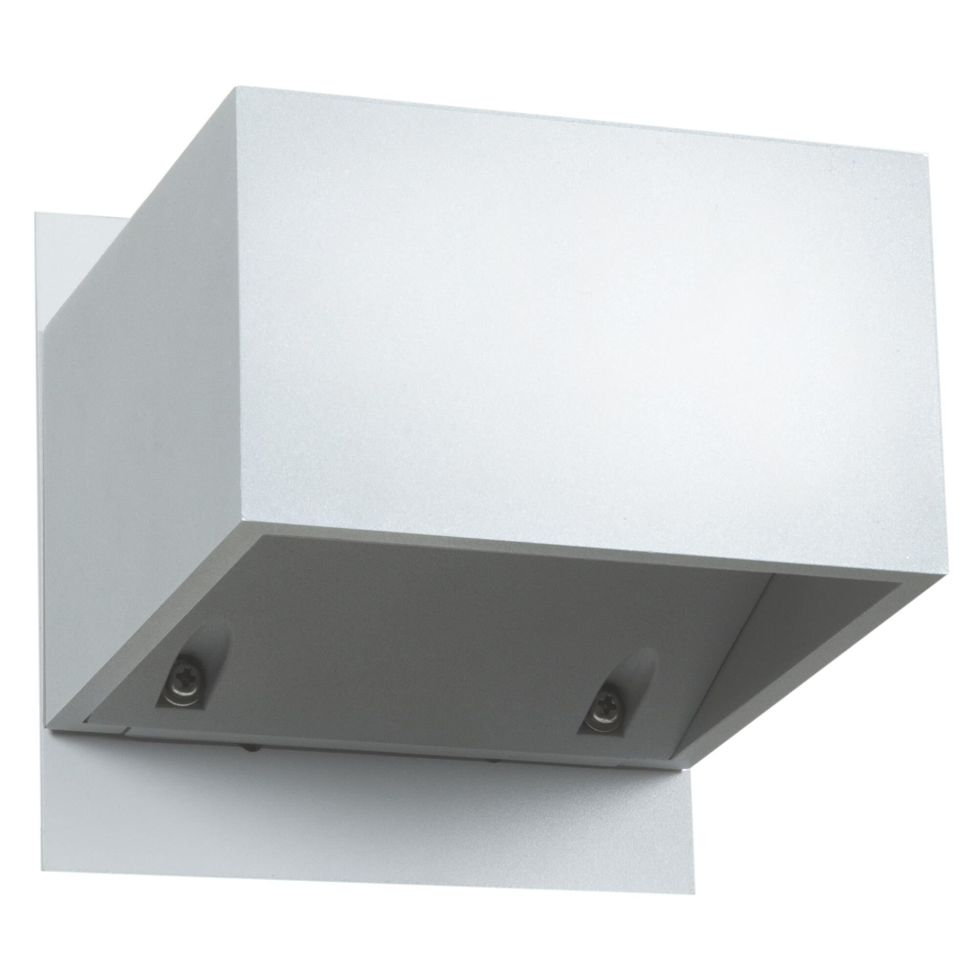 Access Lighting Square 3 Inch Tall 1 Light LED Outdoor Wall Light Square 20398LEDMG WH Modern Contemporary