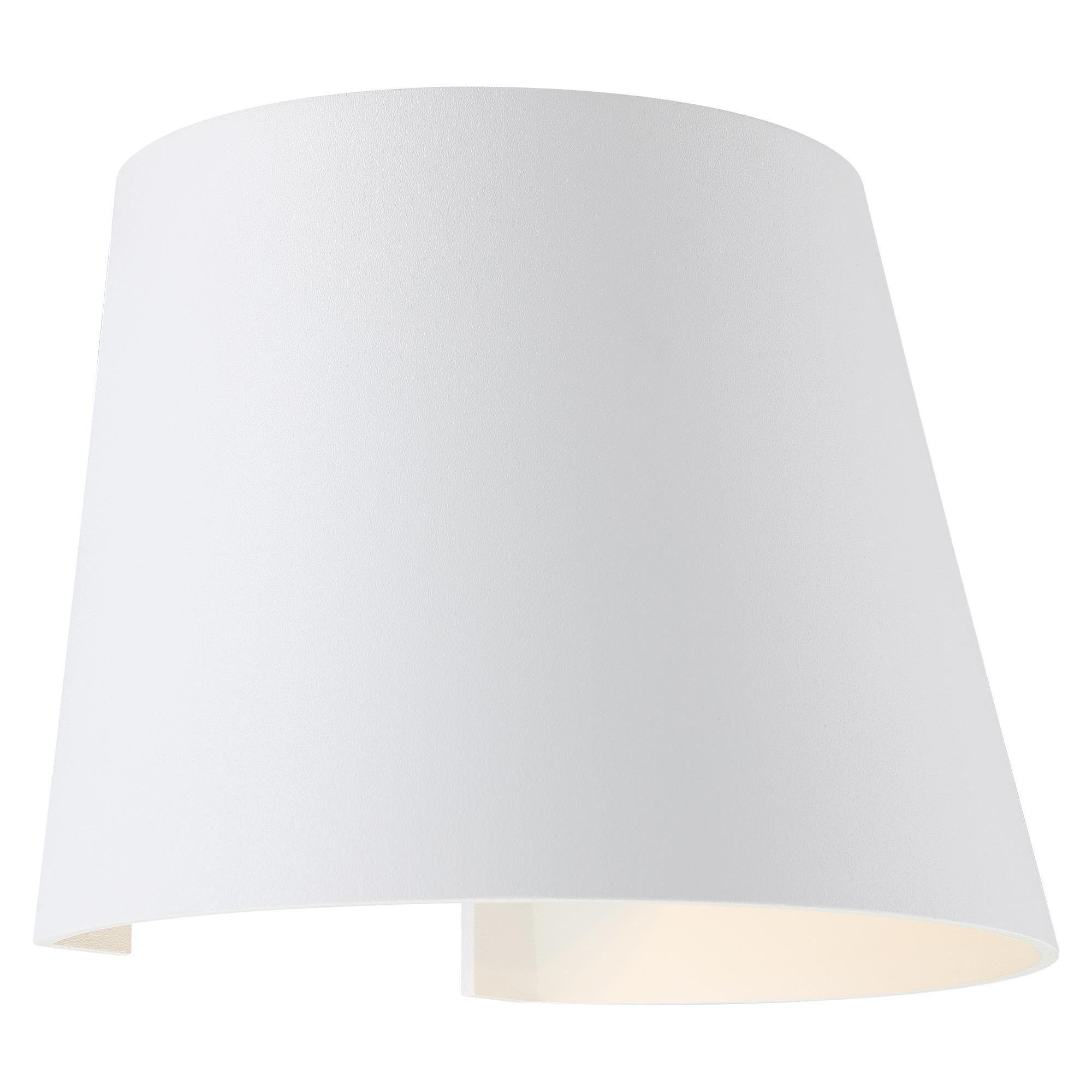 Access Lighting Cone 6 Inch Tall 2 Light LED Outdoor Wall Light Cone 20399LEDMGCNE WH Modern Contemporary