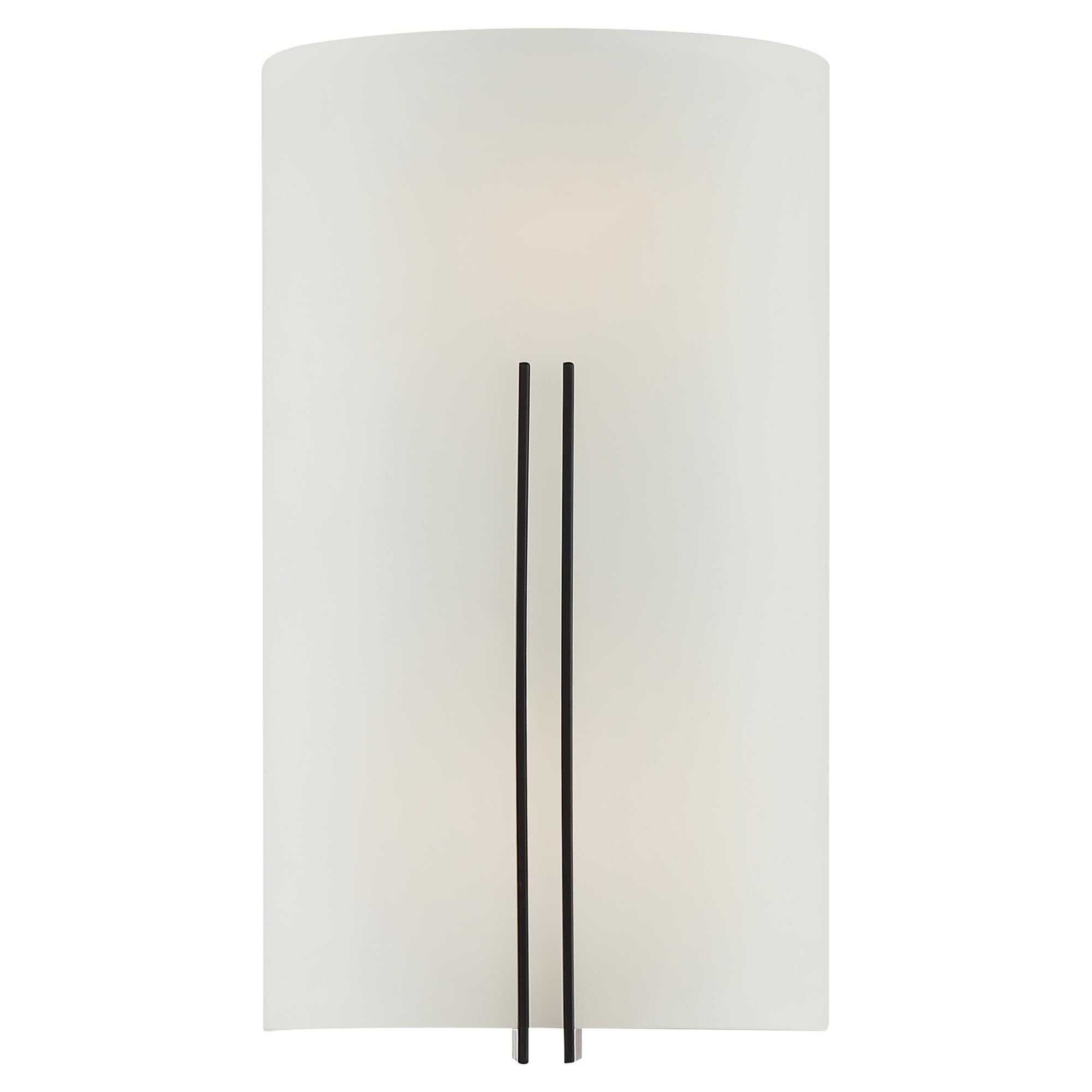 Access Lighting Prong 12 Inch LED Wall Sconce Prong 20446LEDDLP MBLWH Transitional