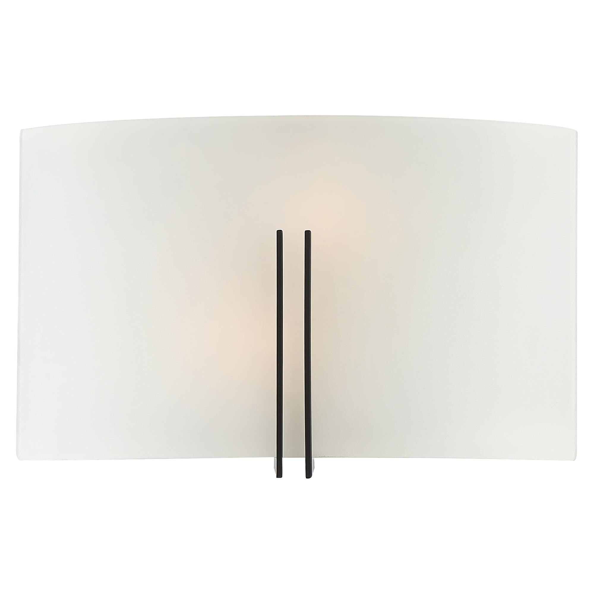 Access Lighting Prong 12 Inch LED Wall Sconce Prong 20447LEDDLP MBLWH Transitional