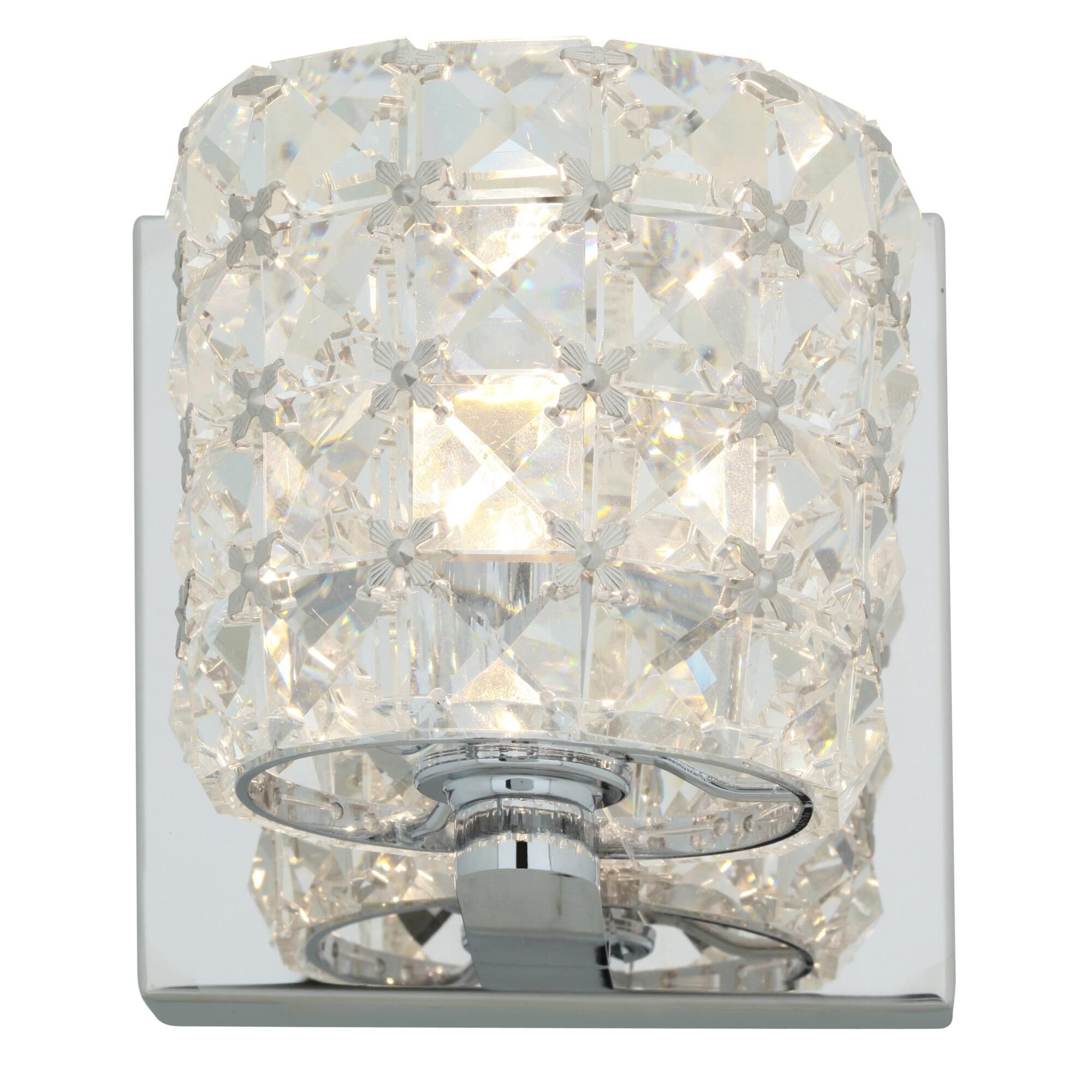 Access Lighting Prizm 4 Inch Wall Sconce Prizm 23920 CHCCL Crystal