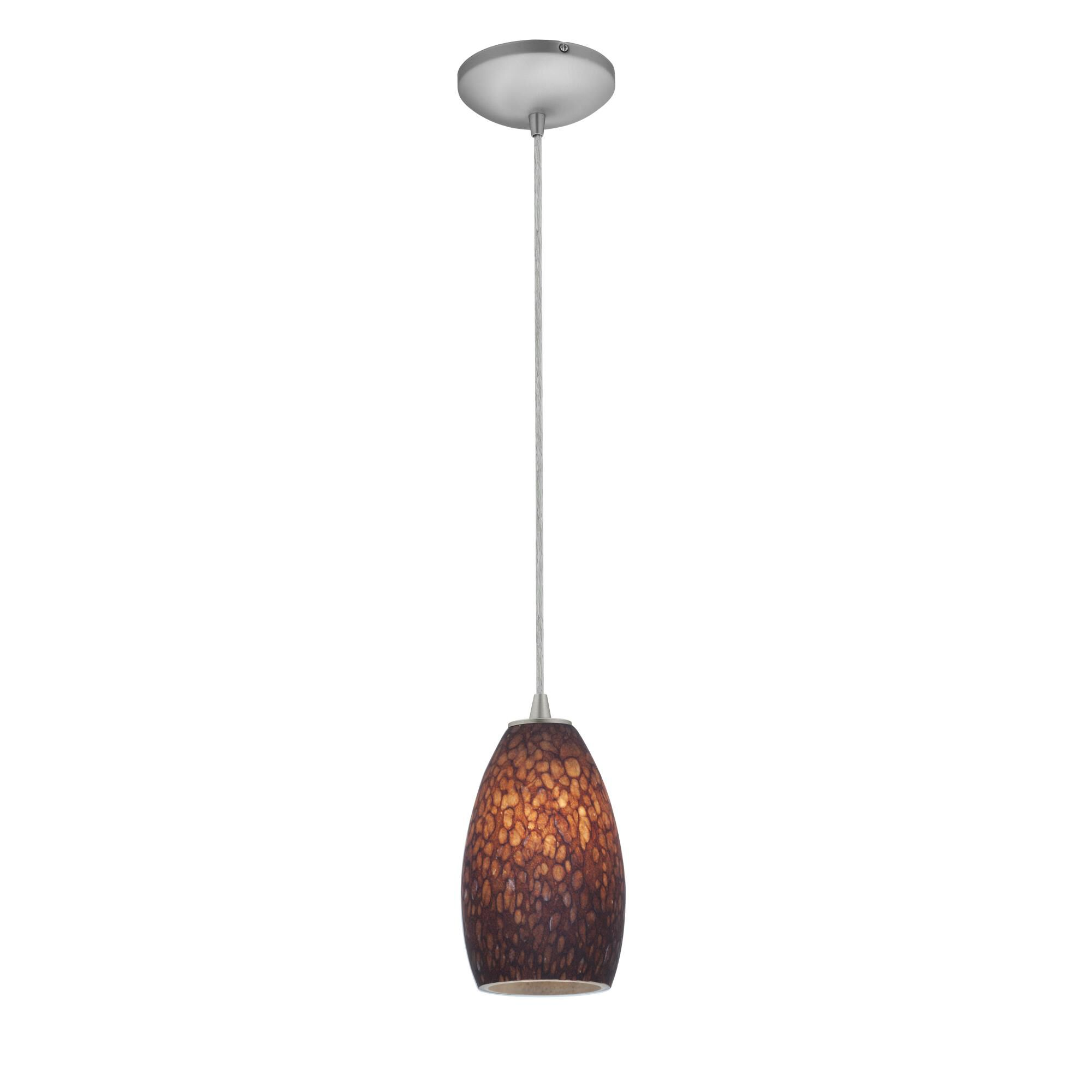 Access Lighting Champagne 9 Inch Mini Pendant Champagne 28012 1C BSBRST Modern Contemporary