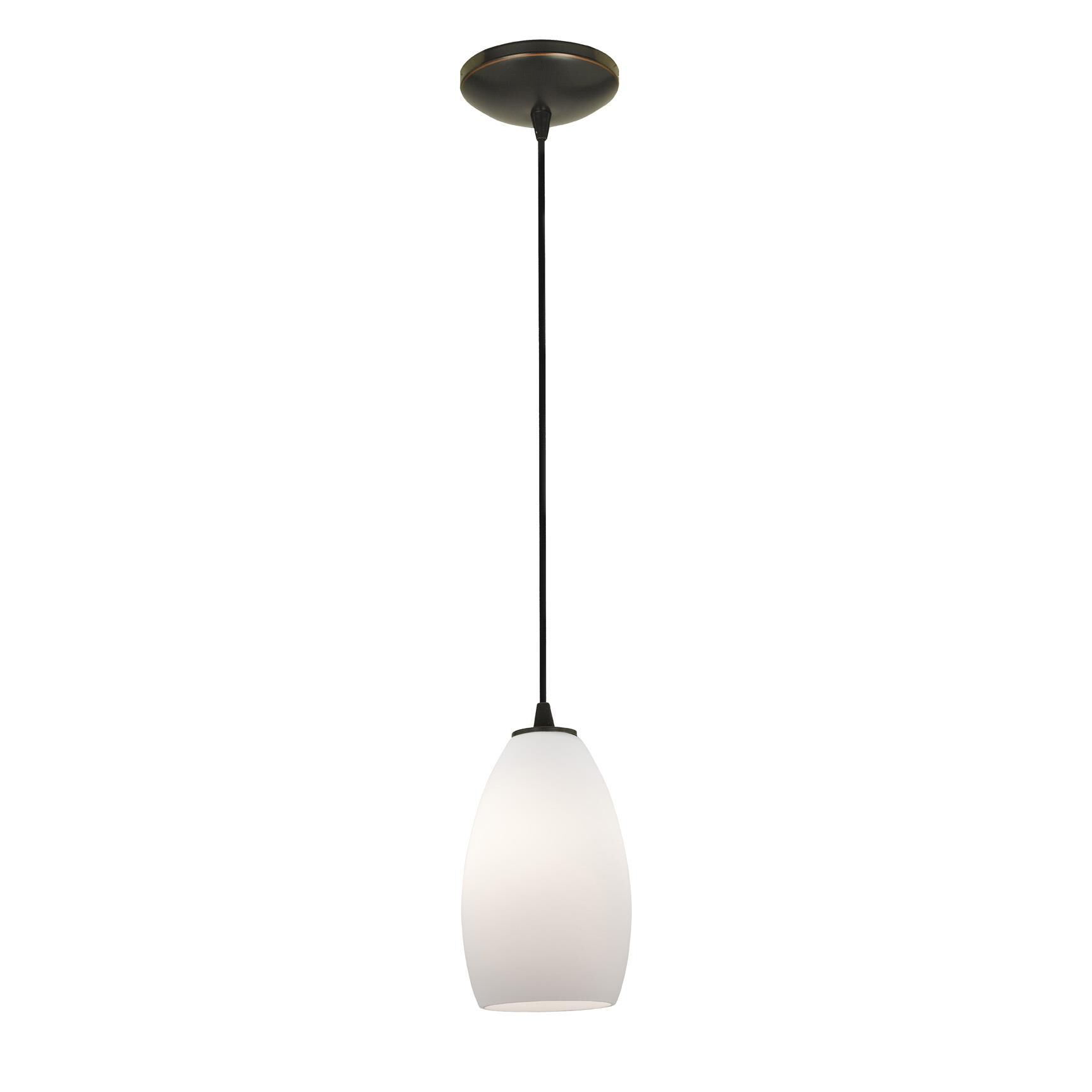 Access Lighting Champagne 9 Inch Mini Pendant Champagne 28012 1C ORBOPL Modern Contemporary