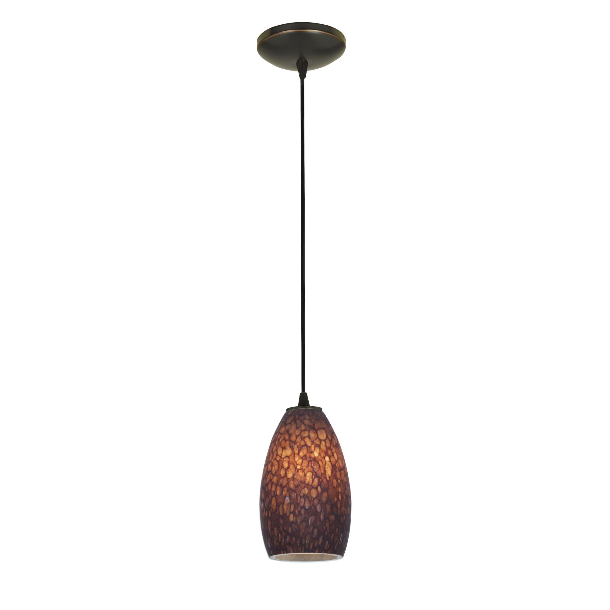 Access Lighting Champagne LED Mini Pendant Champagne 28012 3C ORBBRST Modern Contemporary