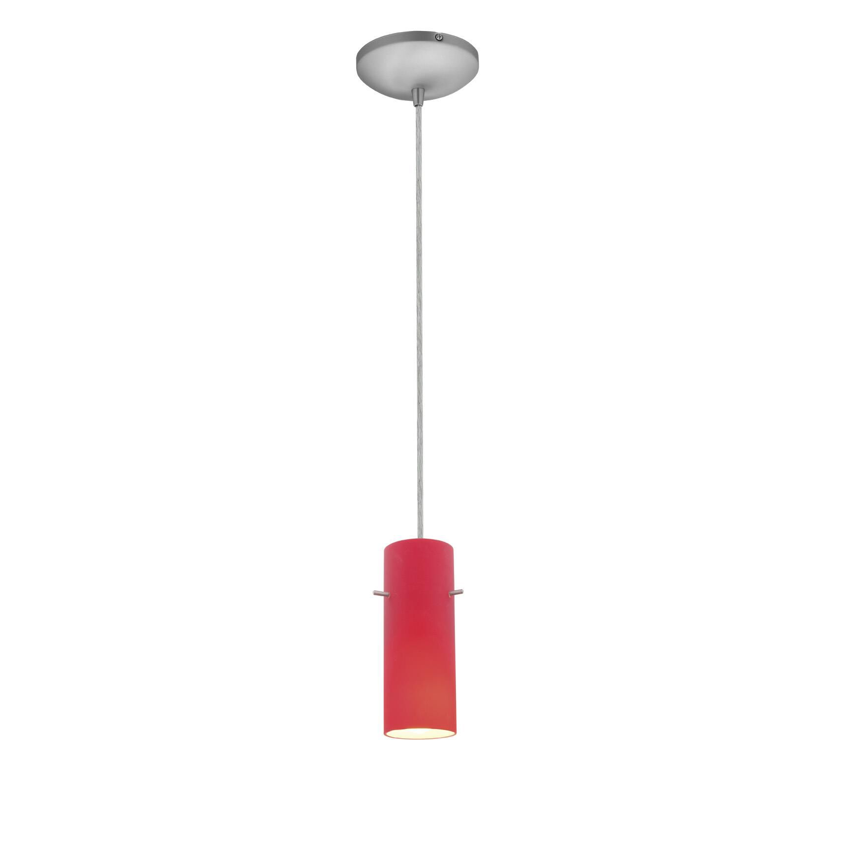 Access Lighting Cylinder 4 Inch Mini Pendant Cylinder 28030 1C BSRED Modern Contemporary