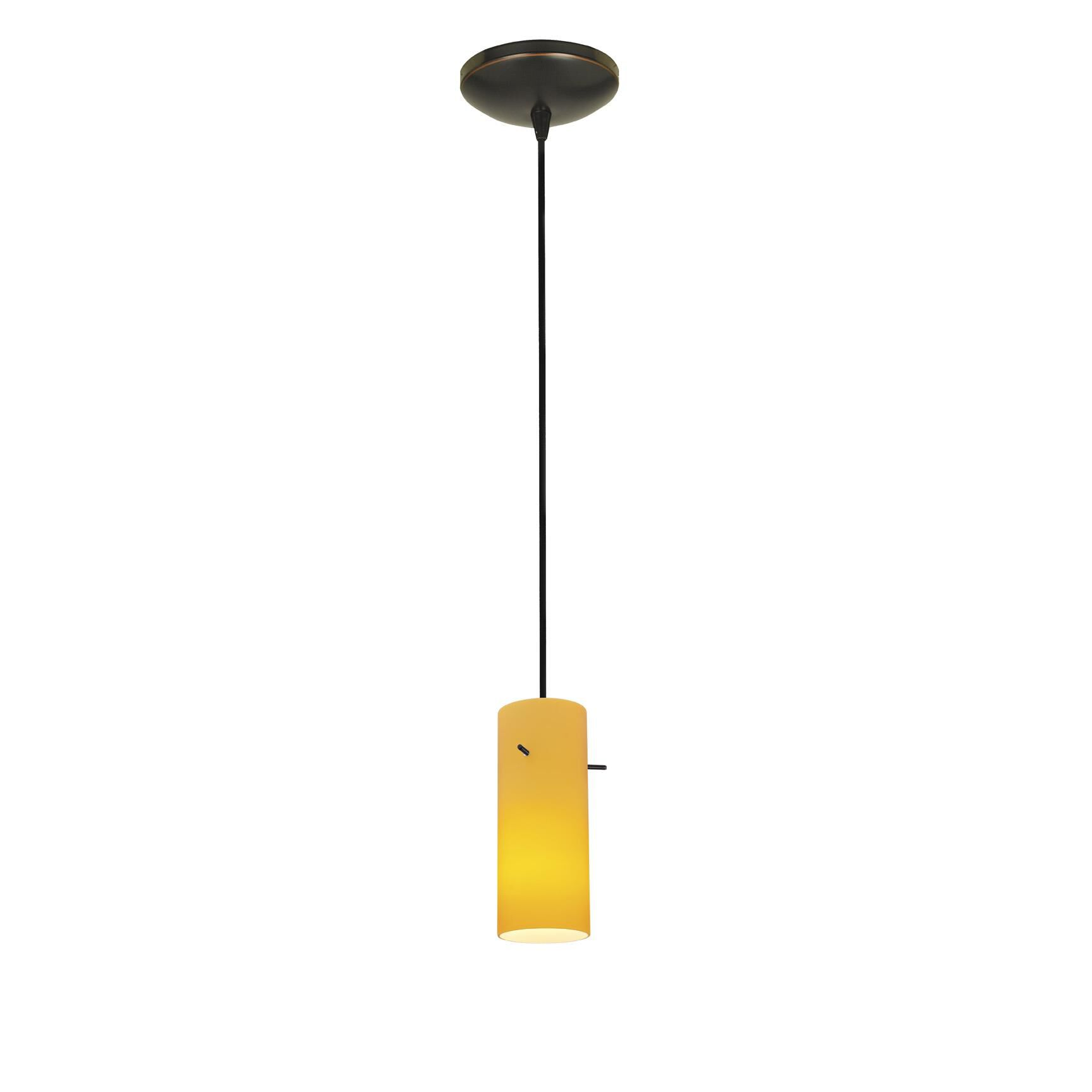 Access Lighting Cylinder 4 Inch Mini Pendant Cylinder 28030 1C ORBAMB Modern Contemporary