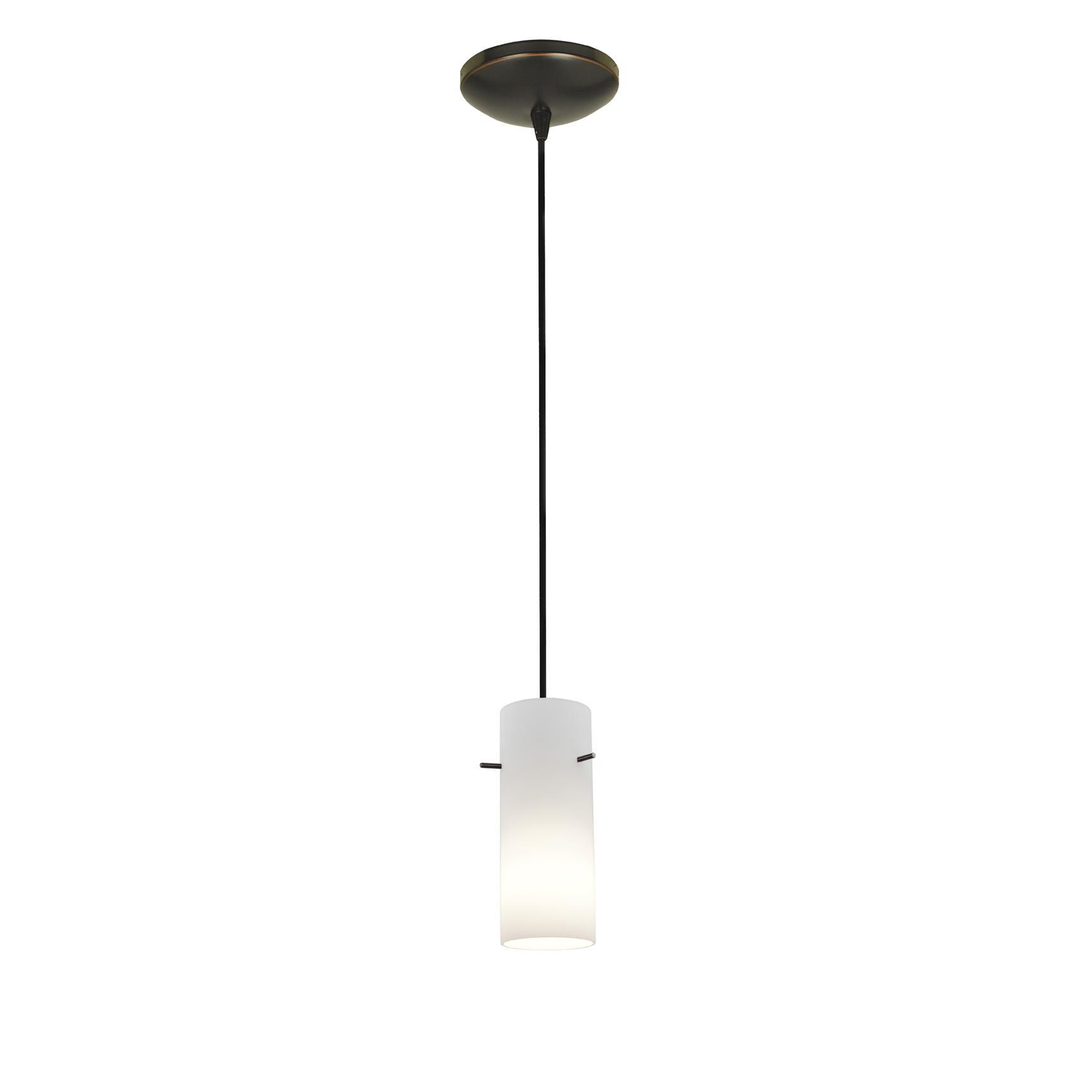Access Lighting Cylinder 4 Inch Mini Pendant Cylinder 28030 1C ORBOPL Modern Contemporary